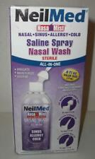 NeilMed Nasal Mist Saline Spray All-In-One 3 Nozzle Tips Sinus/Cold (NEW**LQQK)