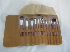 Leather Roll-UP Make Up Brush and Applicator Set (OAR34-422)