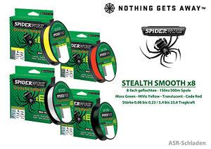 Spiderwire Stealth Smooth x8 - 8-fach geflochten  - 150m/300m - 4 Farben
