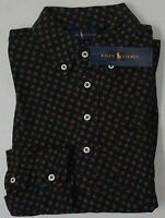 NWT $125 Polo Ralph Lauren Shirt Mens Navy Blue 100% Cotton NEW