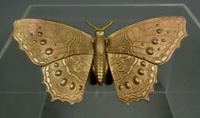 Victorian Butterfly Shape gold gilt brass needle case by W. Avery & Son Redditch
