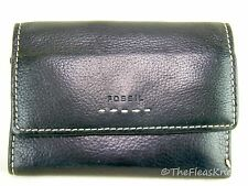 Fossil Black Pebbled Genuine Leather Wallet - So Many Pockets