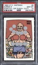1989 O-Pee-Chee Nintendo Game Packs Screen 6 #1 Punch-Out!! PSA 10