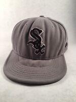 Chicago White Sox MLB New Era 59 Fifty Size 7 5/8 Baseball Cap Gray