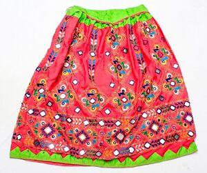 Rabari Kuchi Ethnic Banjara Tribal Embroidery Gypsy Mirror Belly Dance Skirt