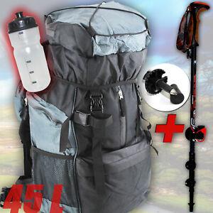 XL TREKKING SET | Trekkingrucksack + Wanderstock + Trinkflasche | WANDERN ü5ü888