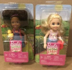 Barbie Sweet Orchard Farm Chelsea African American with Duck& Chelsea Water Can