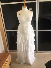 H&M fashion para el sida Blanco Boho Maxi Vestido en niveles EUR 34/US 4/UK 6
