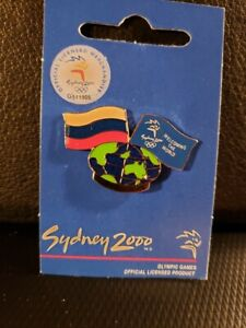 Sydney 2000 Olympics Flag Pin - Participating Nations - Russian Federation -Mint