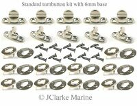 Standard Turnbutton 6mm kit with screws common sense fastener boat canopy cover