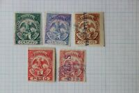 Mexico Revenue CF128-132 Federal 1899-1900 partial set 5p pesos