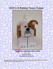 Old English Bulldog 3-D-Tissue Topper-Dog- Plastic Canvas Pattern or Kit