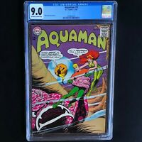 AQUAMAN #19 (DC 1965) 💥 CGC 9.0 OW-W 💥 MERA COVER by NICK CARDY!