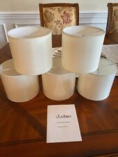 Linen Drum Lamp Shades  Set of 5