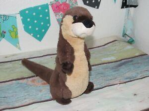 "Wild Republic Brown River Otter Sea Plush Stuffed Standing Doll 10"" K&M Toy 2015"