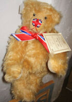"""DEANS GREAT BRITAIN 12"""" ORIG FULL-SIZED JACK THE LAD BEAR W/ UNION JACK NOSE NEW"""