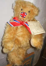 "DEANS GREAT BRITAIN ORIGINAL 12"" JACK THE LAD MOHAIR BEAR W/ UNION JACK NOSE NEW"