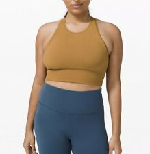 Lululemon ebb to train bra C/D cup spiced bronze yellow size 8