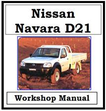 NISSAN NAVARA D21 1989 - 1997 FACTORY WORKSHOP MANUAL DIGITAL DOWNLOAD
