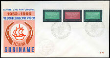 Suriname 1965 Abraham Lincoln FDC First Day Cover #C29272