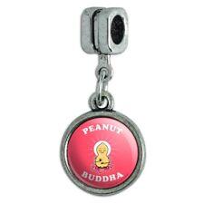 Peanut Buddha Butter Funny Humor Italian European Style Bracelet Charm Bead