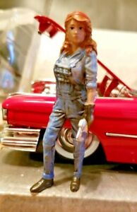 American Diorama 1:24 Female Mechanic lll Poly-Resin Figure AD-38346