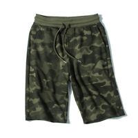 Summer Men/'s Korean Leopard Five-point Shorts Fashion Elastic Waist Loose Pants
