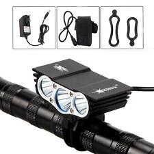 portatile 3x XML T6 LED bicicletta Bike Davanti faro leggero lampada 6400mAh Set