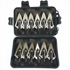 12Pcs Hunting Stinger Broadheads 4 Blade 100 Grains Sawtooth Blade Hunting Tips