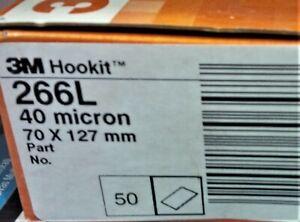 3M 50x 40u Micron SANDING FILM Abrasive Finishing Pad 70 x 127mm FRE Cut 266L
