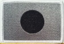 JAPAN FLAG Embroidered Iron-On PATCH  EMBLEM GRAY & BLACK  #467