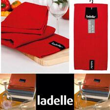 Ladelle Microfibre Glass Cloth Tea Towels | Super Absorbent | Red