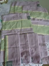 New 4 Aman cotton place mats and matching 4 napkins green lavender gold $40 valu
