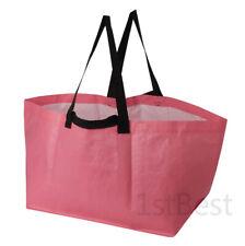IKEA PINK TURQUOISE Reusable Large Tote Bag Slukis Frakta LAUNDRY SHOPPING ECO