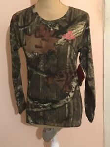 Girl's Mossy Oak Break-Up Infinity Long Sleeve Shirt Size S/P/CH NEW WITH TAGS