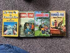 4 Enid Blyton Famous Five Books Claude Voilier Television Blue Bear Mystery Cava