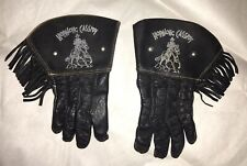 1950s Vintage/Antique Hopalong Cassidy Childrens Leather Gloves With Stud—Black