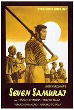 Seven Samurai Movie Poster 27 x 40 Toshiro Mifune, Takashi Shimura, Ia, New, Usa