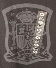 New Adidas Spain Espana  National Soccer Team T-Shirt Kids XL Black Football