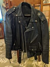 Wilsons Vintage Leather Motorcycle Jacket Size L