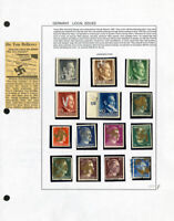 Germany WWII Local Issues Stamp Collection