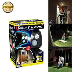 Wireless Motion-Activated LED Superbright Night Hawk Security Spotlight