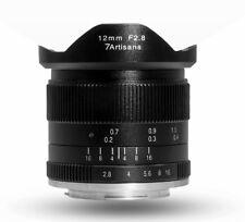 7artisans 12mm F2.8 Manual Focus HD.MC LENS Black f/ Panasonic Olympus Micro 4/3