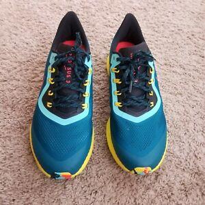 Nike Air Zoom Pegasus 36 Trail/Hike/Run Shoes Teal/Crimson AR5677-301 Men's 13