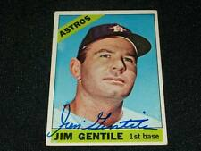 Houston Astros Jim Gentile Auto Signed 1966 Topps Card #45  VINTAGE K