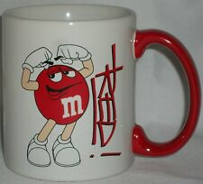 M&M Red Character Ceramic Coffee Mug M and M Hot Chocolate Candy Cider 2012 Gift