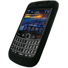 Black Silicone Case Skin for BlackBerry Bold 9700 UK