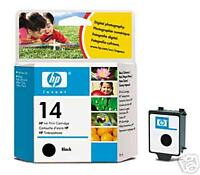 GENUINE ORIGINAL BOXED DEC 2012 DATED HP 14 C5011DE BLACK CARTRIDGE FAST POSTAGE