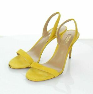 Q50 NEW $695 Women's Sz 36 Aquazzura So Nude Slingback Sandal In Yellow