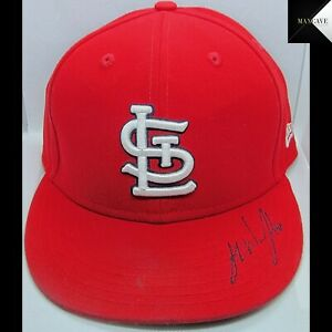 2021 Autographed Jake Woodford Game Used Game Worn Signed Home Cardinals Hat